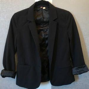 {Frenchi} Silk Lined Black Blazer